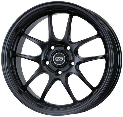 Enkei 460-770-4938BK PF01 Matte Black Racing Wheel 17x7 4x100 38mm Offset 75mm Bore