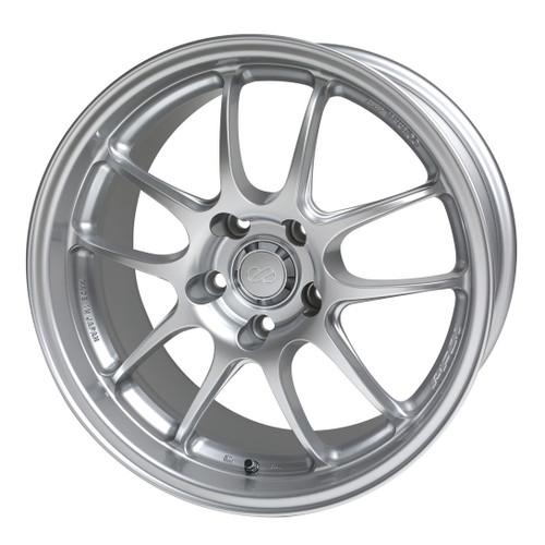 Enkei 460-770-4938SP PF01 Silver Racing Wheel 17x7 4x100 38mm Offset 75mm Bore