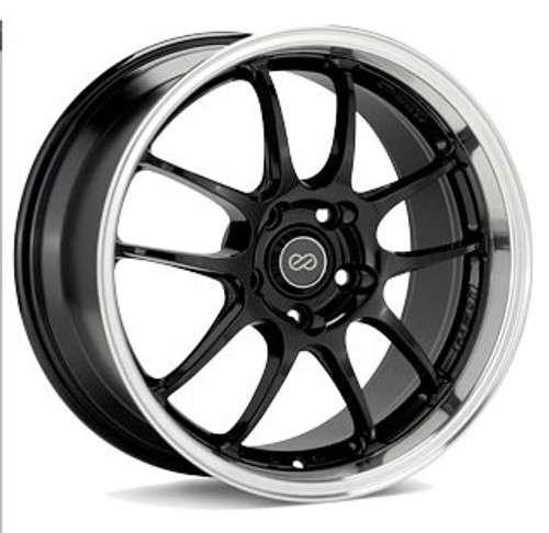 Enkei 460-780-6550BKM PF01 Black Machined Racing Wheel 17x8 5x114.3 50mm Offset 75mm Bore
