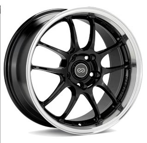 Enkei 460-790-6535BKM PF01 Black Machined Racing Wheel 17x9 5x114.3 35mm Offset 75mm Bore