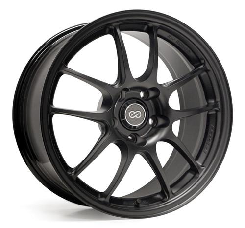 Enkei Racing 460-8105-6515BK PF01 18x10.5 15mm Offset 5x114.3 23.15 lbs. 75 Matte Black Wheel