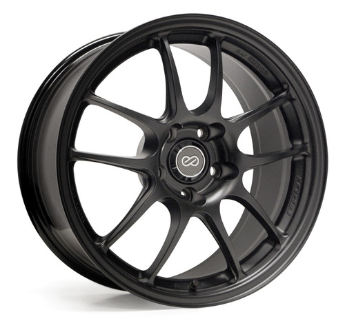 Enkei Racing 460-895-6515BK PF01 18x9.5 15mm Offset 5x114.3 75 Matte Black Wheel