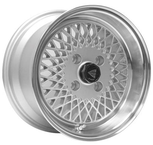 Enkei 465-570-4938SP ENKEI92 Silver with Machined Lip Performance Wheel 15x7 4x100 38mm Offset 72.6m