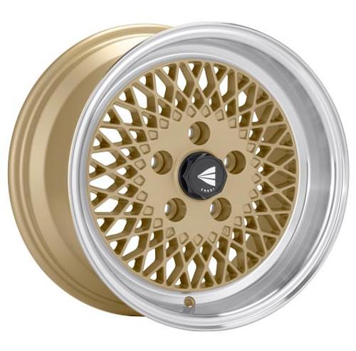 Enkei 465-570-6538GG ENKEI92 Gold with Machined Lip Performance Wheel 15x7 5x114.3 38mm Offset 72.6m