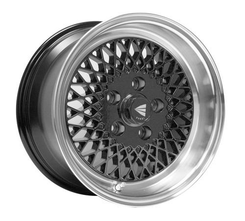 Enkei 465-580-4925BK ENKEI92 Black with Machined Lip Performance Wheel 15x8 4x100 25mm Offset 72.6mm
