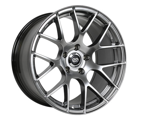 Enkei 467-880-1242HS Raijin Hyper Silver Tuning Wheel 18x8 5x120 42mm Offset 72.6mm Bore