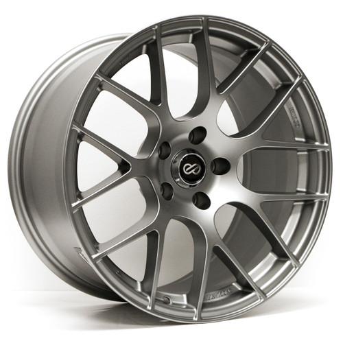 Enkei 467-880-4435GM Raijin Gunmetal Tuning Wheel 18x8 5x112 35mm Offset 72.6mm Bore