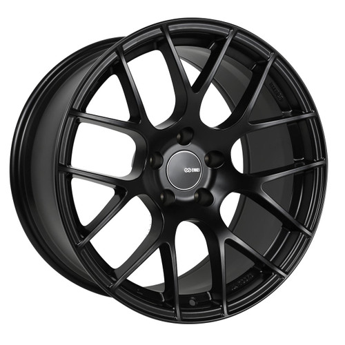 Enkei 467-880-8035BK Raijin Matte Black Tuning Wheel 18x8 5x100 35mm Offset 72.6mm Bore