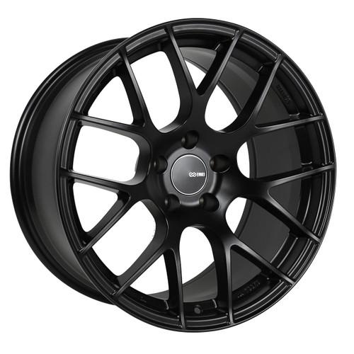 Enkei 467-885-6538BK Raijin Matte Black Tuning Wheel 18x8.5 5x114.3 38mm Offset 72.6mm Bore