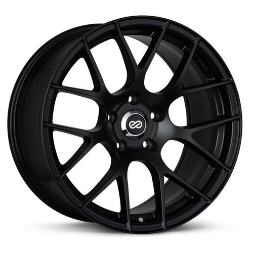 Enkei 467-895-8095BK RAIJIN 18x9.5 45mm Offset 5x100 72.6 Matte Black Wheel 21.6lbs