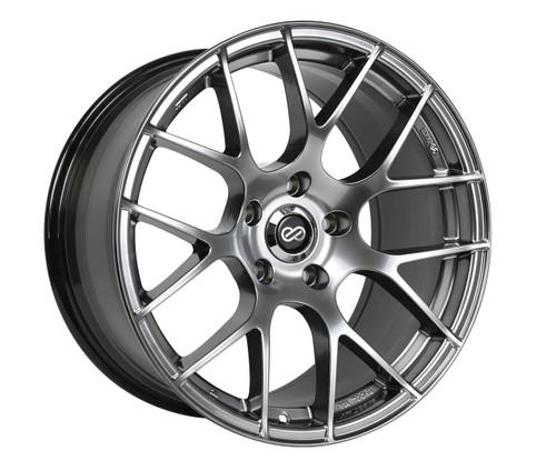 Enkei 467-980-4445HS Raijin Hyper Silver Tuning Wheel 19x8 5x112 45mm Offset 72.6mm Bore