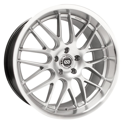 Discontinued - Enkei 469-875-5142HS Lusso Hyper Silver with Machined Lip Performance Wheel 18x7.5 5x