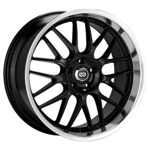Enkei 469-880-6540BK Lusso Black with Machined Lip Performance Wheel 18x8 5x114.3 40mm