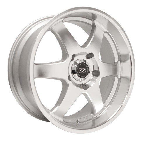 Enkei 470-780-6820SM ST6 Silver Machined Truck Wheel 17x8 6x114.3 20mm Offset 66.1mm Bore