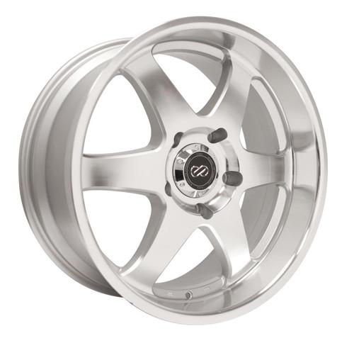 Enkei 470-780-8410SM ST6 Silver Machined Truck Wheel 17x8 6x139.7 10mm Offset 108.5mm Bore