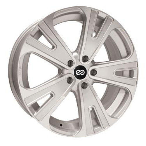 Enkei 475-880-1240SM SVX Silver Machined Truck Wheel 18x8 5x120 40mm Offset 72.6mm Bore