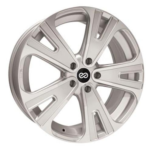 Enkei 475-880-6540SM SVX Silver Machined Truck Wheel 18x8 5x114.3 40mm Offset 72.6mm Bore