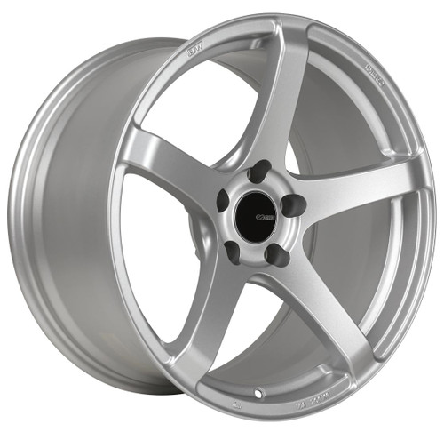 Enkei 476-885-6525SP Kojin Matte Silver Tuning Wheel 18x8.5 5x114.3 25mm Offset 72.6mm Bore