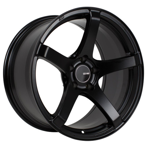 Enkei 476-885-6535BK Kojin Matte Black Tuning Wheel 18x8.5 5x114.3 35mm Offset 72.6mm Bore