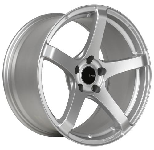 Enkei 476-895-1245SP Kojin Matte Silver Tuning Wheel 18x9.5 5x120 45mm Offset 72.6mm Bore