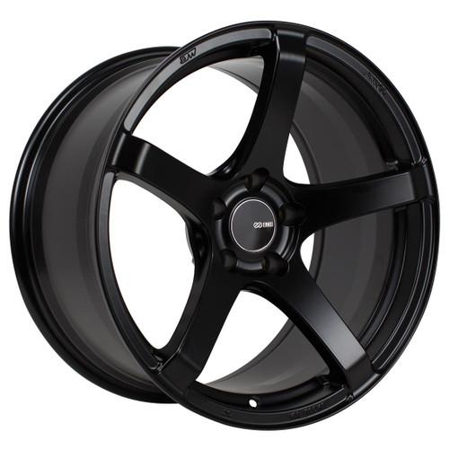 Enkei 476-895-6530BK Kojin Matte Black Tuning Wheel 18x9.5 5x114.3 30mm Offset 72.6mm Bore