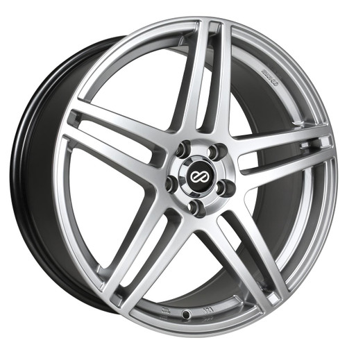 Enkei 479-775-6540HS RSF5 Hyper Silver Performance Wheel 17x7.5 5x114.3 40mm Offset 72.6mm Bore