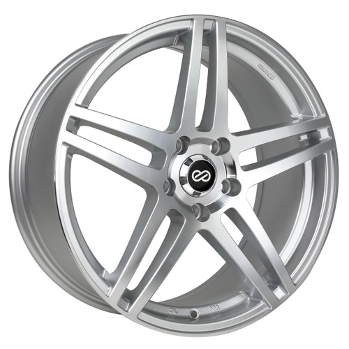 Enkei 479-880-6550SM RSF5 Silver Machined Performance Wheel 18x8 5x114.3 50mm Offset 72.6mm Bore