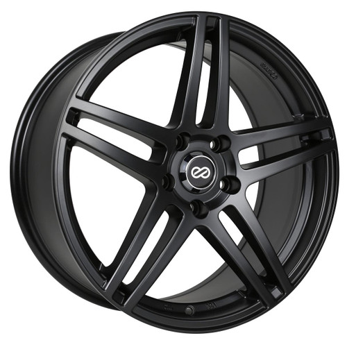 Enkei 479-880-8040BK RSF5 Matte Black Performance Wheel 18x8 5x100 40mm Offset 72.6mm Bore