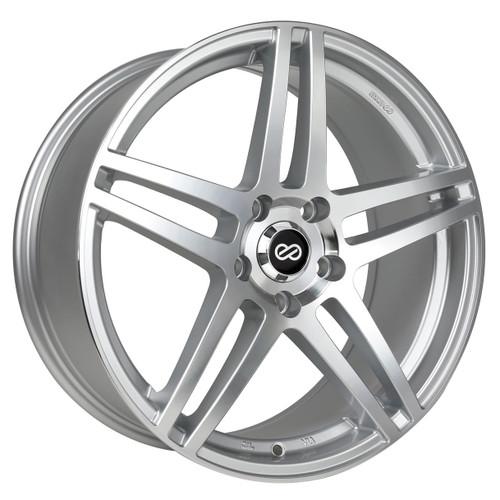 Enkei 479-880-8045SM RSF5 Silver Machined Performance Wheel 18x8 5x100 45mm Offset 72.6mm Bore