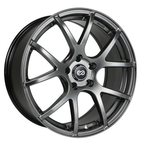 Enkei 480-775-8045HB M52 Hyper Black Performance Wheel 17x7.5 5x100 45mm Offset 72.6mm Bore