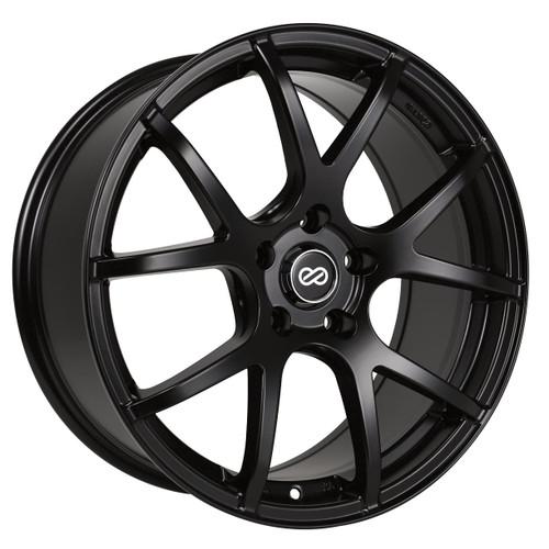 Enkei 480-880-1242BK M52 Matte Black Performance Wheel 18x8 5x120 42mm Offset 72.6mm Bore