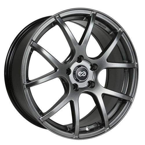 Enkei 480-880-4445HB M52 Hyper Black Performance Wheel 18x8 5x112 45mm Offset 72.6mm Bore