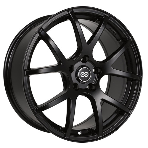 Enkei 480-880-8045BK M52 Matte Black Performance Wheel 18x8 5x100 45mm Offset 72.6mm Bore