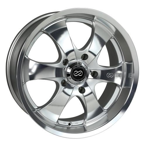 Enkei 482-780-6820MF M6 Silver Mirror Finish Truck Wheel 17x8 6x114.3 20mm Offset 66.1mm Bore