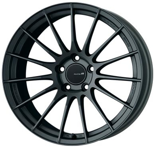Enkei 484-8105-6525GM RS05RR Matte Gunmetal Racing Wheel 18x10.5 5x114.3 25mm Offset 75mm Bore