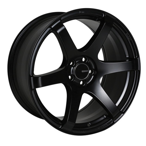Enkei 485-880-4435BK T6S Matte Black Tuning Wheel 18x8 5x112 35mm Offset 72.6mm Bore