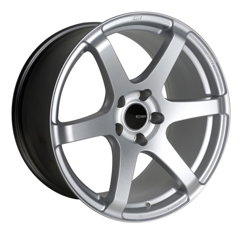 Enkei 485-885-6525SP T6S Matte Silver Tuning Wheel 18x8.5 5x114.3 25mm Offset 72.6mm Bore