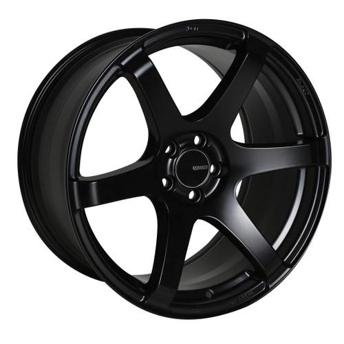 Enkei 485-895-4435BK T6S Matte Black Tuning Wheel 18x9.5 5x112 35mm Offset 72.6mm Bore