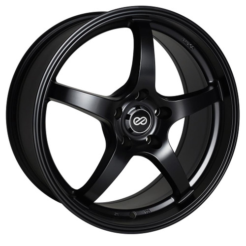Enkei 487-565-4938BK VR5 Matte Black Performance Wheel 15x6.5 4x100 38mm Offset 72.6mm Bore