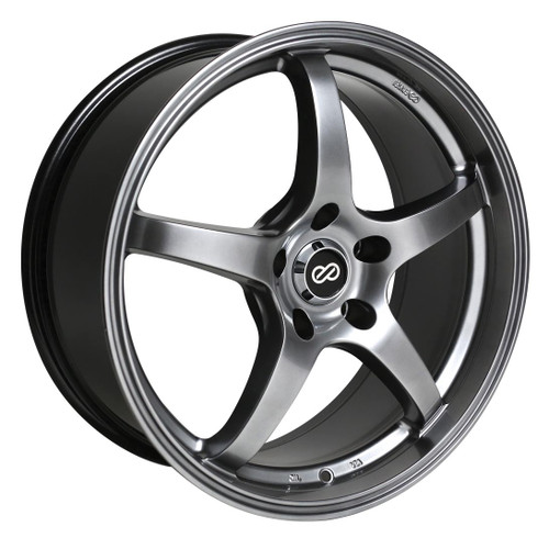 Enkei 487-565-4938HB VR5 Hyper Black Performance Wheel 15x6.5 4x100 38mm Offset 72.6mm Bore