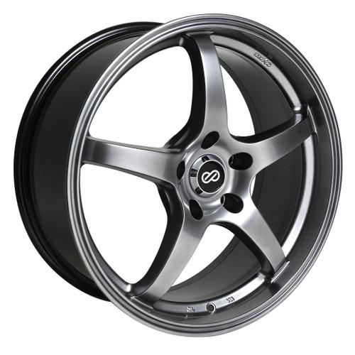 Enkei 487-880-8045HB VR5 Hyper Black Performance Wheel 18x8 5x100 45mm Offset 72.6mm Bore