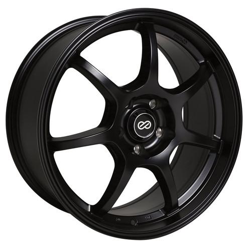 Enkei 488-565-4942BK GT7 Matte Black Performance Wheel 15x6.5 4x100 42mm Offset 72.6 Hub Bore