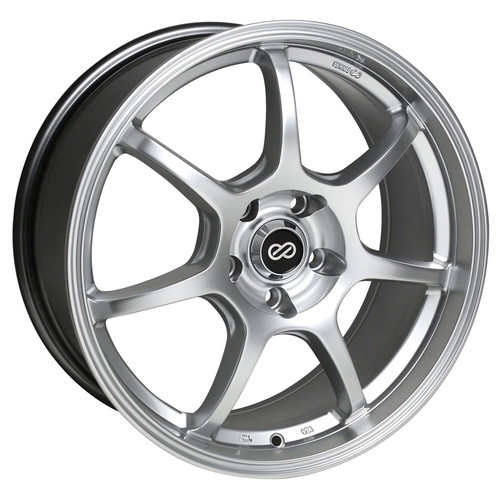 Enkei 488-565-6542HS GT7 Hyper Silver Performance Wheel 15x6.5 5x114.3 42mm Offset 72.6 Hub Bore