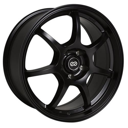 Enkei 488-775-8045BK GT7 Matte Black Performance Wheel 17x7.5 5x100 45mm Offset 72.6mm Bore