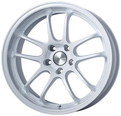 Enkei 489-790-6512WP PF01EVO Pearl White Racing Wheel 17x9 5x114.3 12mm Offset 75mm Bore