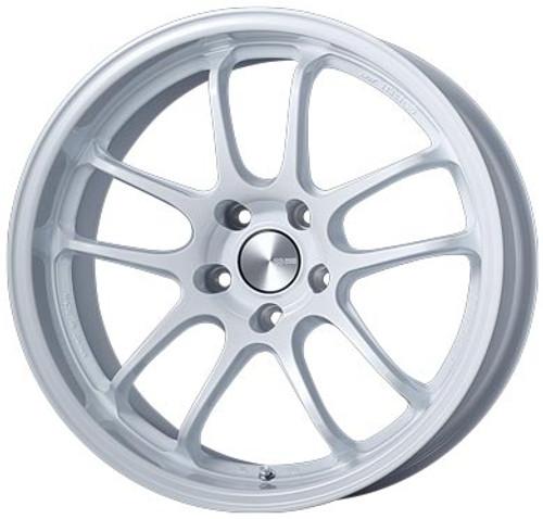 Enkei 489-895-1215WP PF01EVO Pearl White Racing Wheel 18x9.5 5x120 15mm Offset 72.5mm Bore