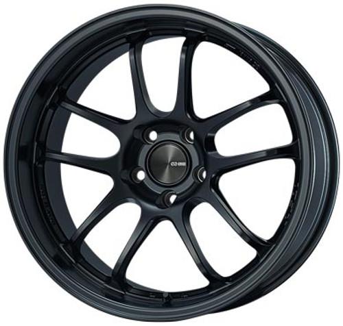 Enkei 489-895-6500BK PF01EVO Matte Black Racing Wheel 18x9.5 5x114.3 0mm Offset 75mm Bore