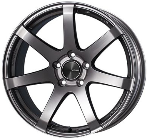 Enkei 490-775-4450DS PF07 Dark Silver Racing Wheel 17x7.5 5x112 50mm Offset 75mm Bore