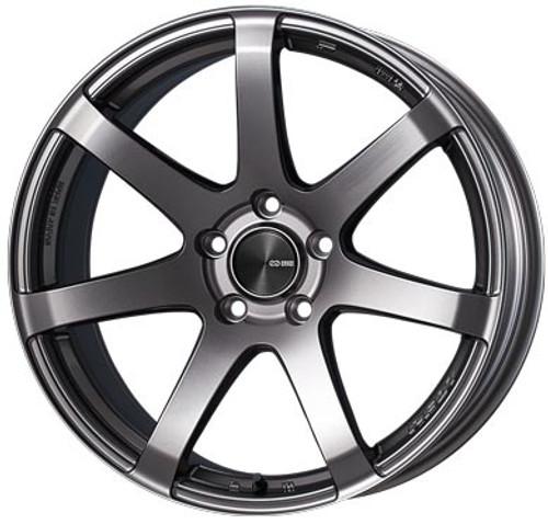 Enkei 490-775-6545DS PF07 Dark Silver Racing Wheel 17x7.5 5x114.3 45mm Offset 75mm Bore