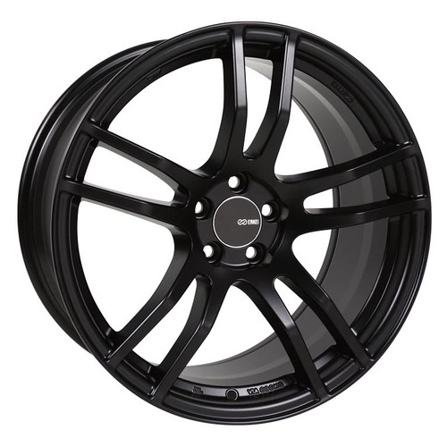 Enkei 491-780-6535BK TX5 Matte Black Tuning Wheel 17x8 5x114.3 35mm Offset 72.6mm Bore